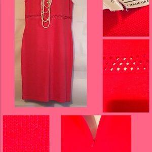 🔥🔥🔥St John Collection watermelon Knit Dress.